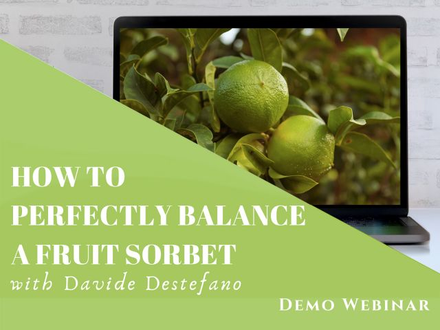 How to perfectly balance a fruit sorbet - webinar